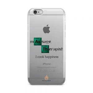 I Cook Happiness – Dark Letters – Transparent iPhone Case