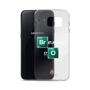Breaking Good – White Letters – Transparent Samsung Case