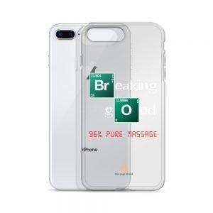 96% Pure Massage – White Letters – Transparent iPhone Case