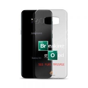 96% Pure Massage – White Letters – Transparent Samsung Case