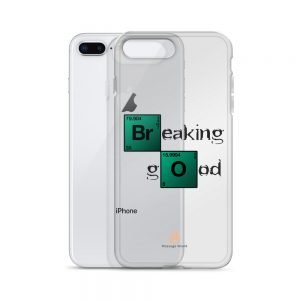 Breaking Good – Dark Letters – Transparent iPhone Case