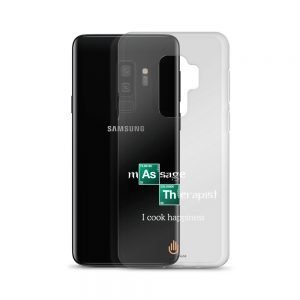I Cook Happiness – White Letters – Transparent Samsung Case