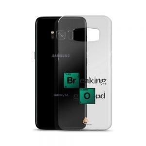 Breaking Good – Dark Letters – Transparent Samsung Case