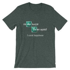 I Cook Happiness – Dark Colors Short-Sleeve Unisex T-Shirt