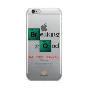 96% Pure Massage – Dark Letters – Transparent iPhone Case