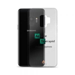 I Cook Happiness – Dark Letters – Transparent Samsung Case