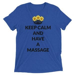 Keep calm and have a massage Short sleeve t-shirt