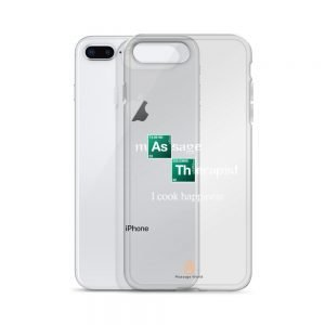 I Cook Happiness – White Letters – Transparent iPhone Case