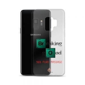 96% Pure Massage – Dark Letters – Transparent Samsung Case