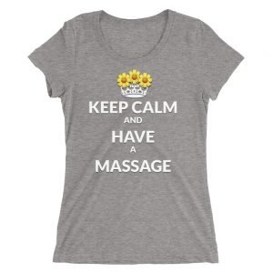 Keep calm and have a massage Ladies' short sleeve t-shirt